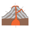 Cross-section of a Volcano (unlabelled)