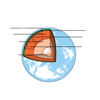 Cross-section of the Earth (unlabeled)